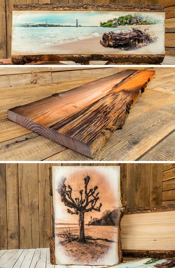 Magst du naturbelassenes Holz? Hier ein paar wunderschöne Holzbilder von aufgesägten Baumstämmen mit Baumrinde für kreative Ideen. Im Einklang mit der Natur erhältst du durch unsere Holzbilder mehr Behaglichkeit in deinem Zuhause. Bei uns im Shop kannst du dein eigenes individuelles Motiv online bestellen, deine Holzart aussuchen und deine Datei für den Holzdruck hochladen.