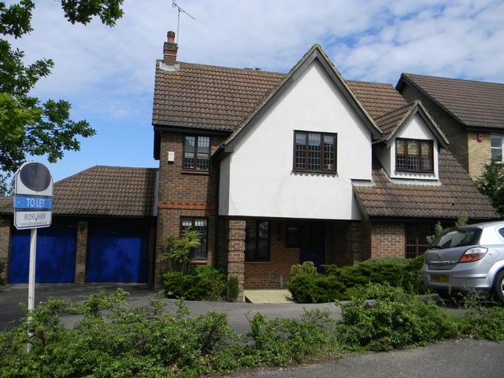 Monthly Rental Of £1,500  4 Bedroom Detached House - Harper Drive, Crawley, West Sussex, RH10 7LD Estate Agents