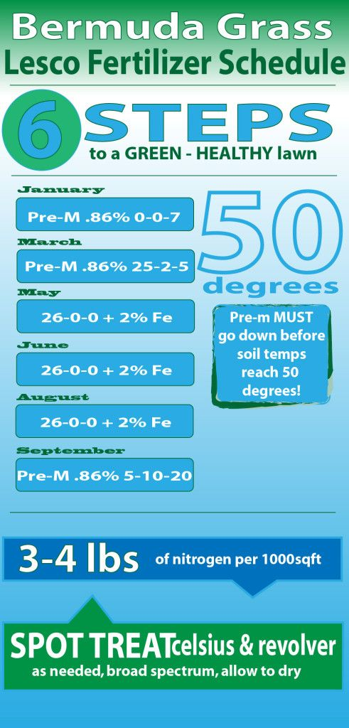 lesco fertilizer schedule for bermuda grass lawn care college - Lawn Treatment