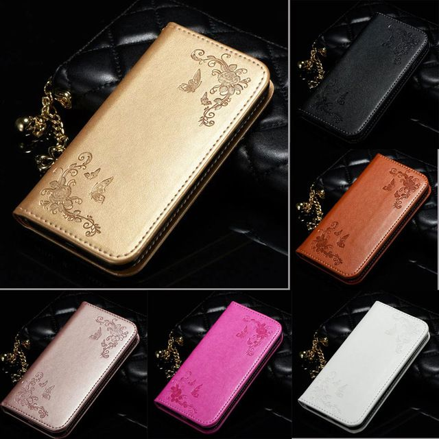 Leather Flip Phone Case On For iPhone 7 5 5s SE 6 6s Plus Huawei P8 P9 Lite Samsung J3 J5 J7 A3 A5 A7 2016 2017 Wallet Cover