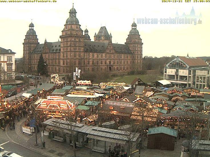 Aschaffenburger Schloss, Marktplatz, Schlossplatz, Stadtbibliothek - Livebild