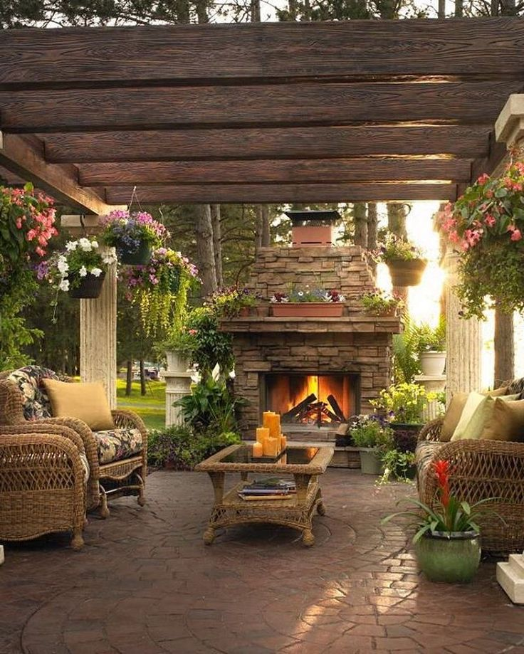 Dars Porch And Patio Hours: 17 Best Ideas About Outdoor Fireplace Patio On Pinterest