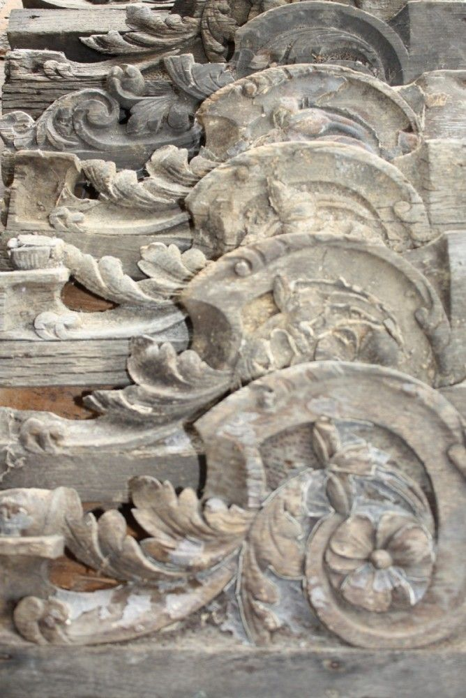 ❤ - Collection of wooden carved mouldings or corbels