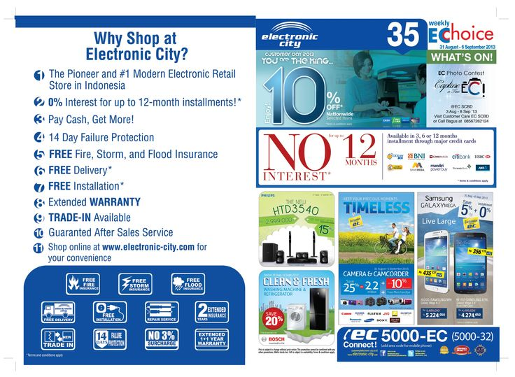 Catalogue EC Store edisi 35 periode 31 Agustus - 6 September 2013  Online Shop WWW.ELECTRONIC_CITY.COM