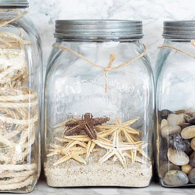 Treasure jars. I could use the glass jars for nature corner