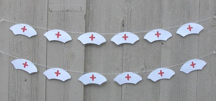 Party Garland, Paper party garland, Nurse party decorations, Nurse Hat garland,  Nursing School graduate, Medical school graduate by PrettyPartyPaperie on Etsy https://www.etsy.com/listing/469335474/party-garland-paper-party-garland-nurse