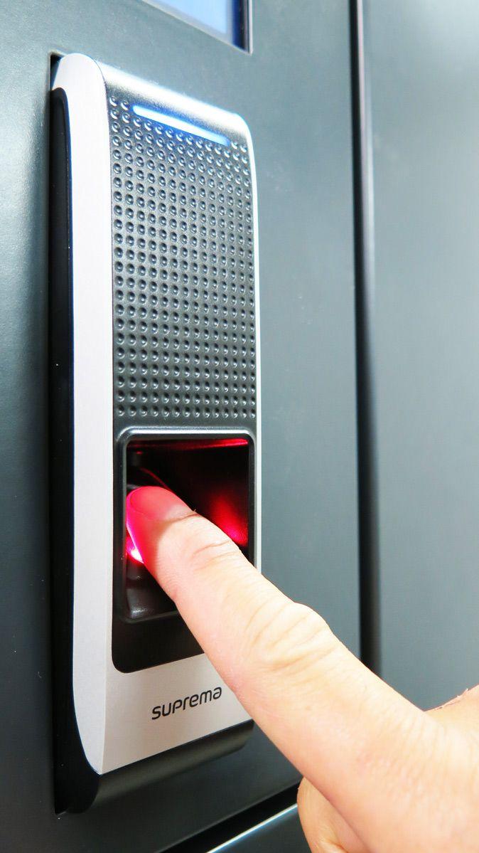 Police weapon & gear lockers with fingerprint security lock