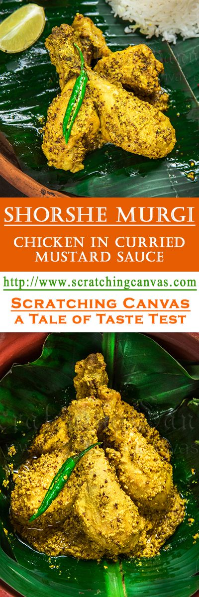 Shorshe Murgi Recipe Chicken in Curried Mustard Gravy