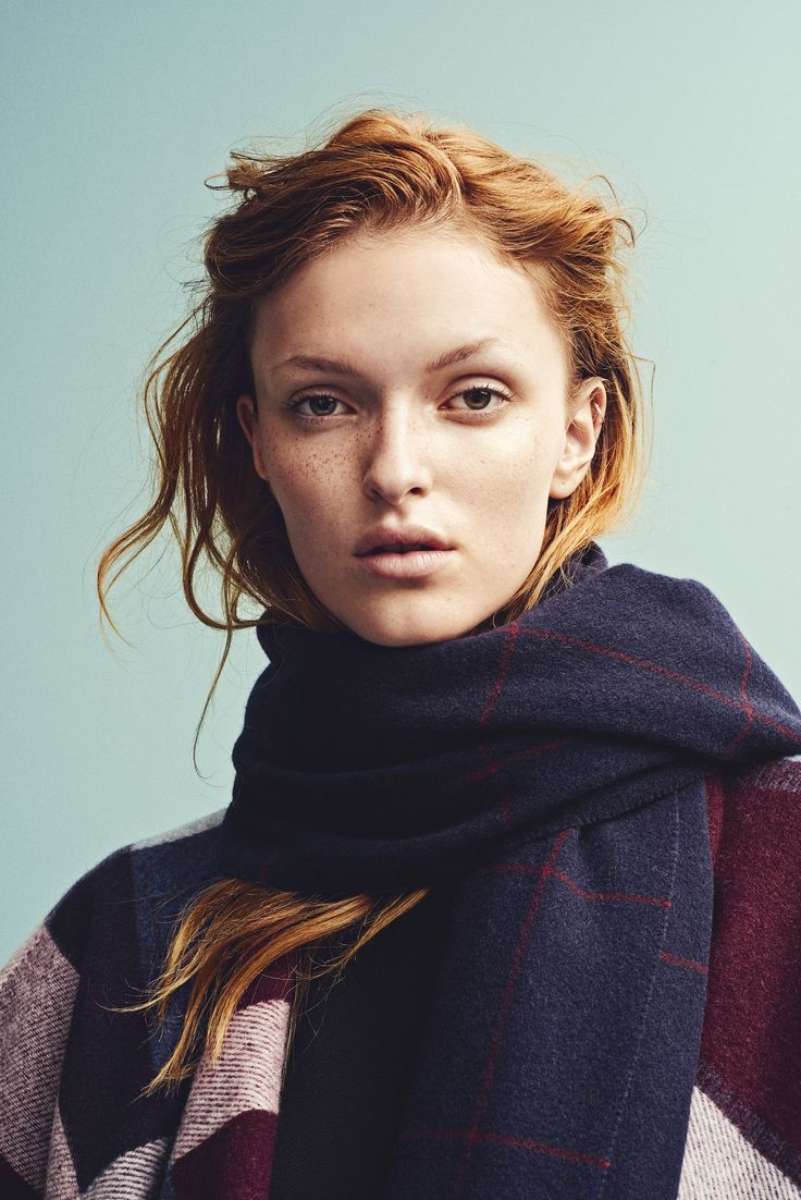 Holzweiler AW15 Collection - Tableau Poncho Wine + Dipper Grids Navy Scarf
