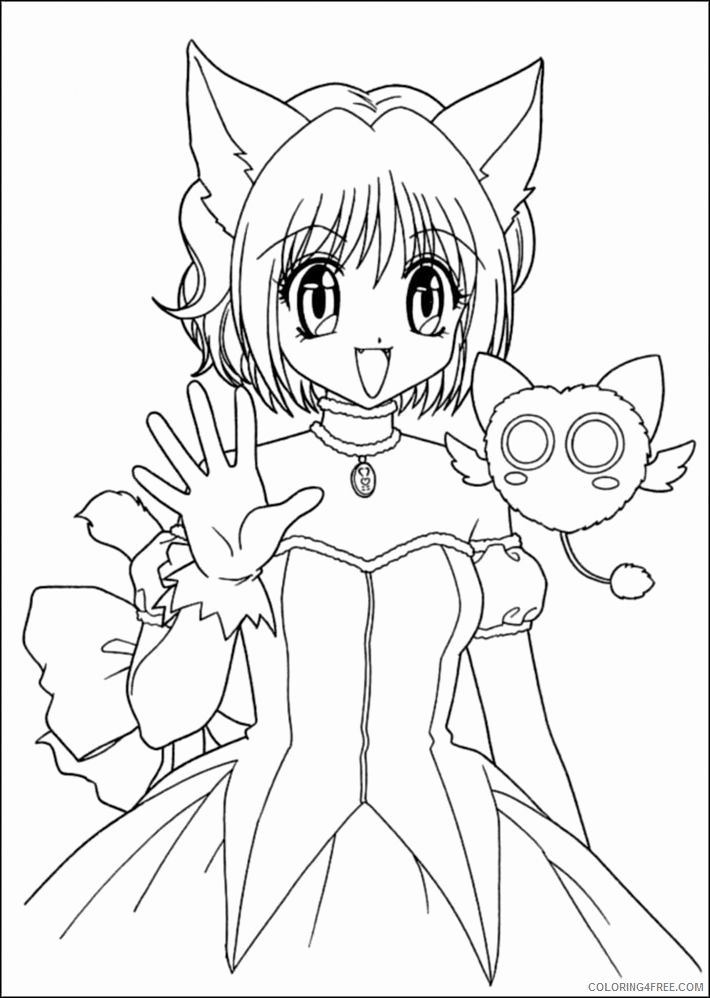 Coloring Pages For Girls Anime Awesome Cat Girl Anime Coloring Pages Coloring4free Coloring4free Anime Wolf Girl Cat Coloring Page Chibi Coloring Pages