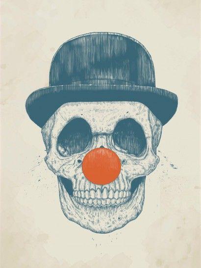 Dead Clown - Balazs Solti | Crie seu quadro com essa imagem https://www.onthewall.com.br/ilustracao/dead-clown #quadro #decoracao #canvas #moldura
