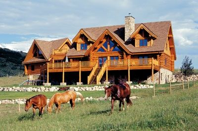 Log Cabin Style Homes Ranch Style Log Home Cabin Fever
