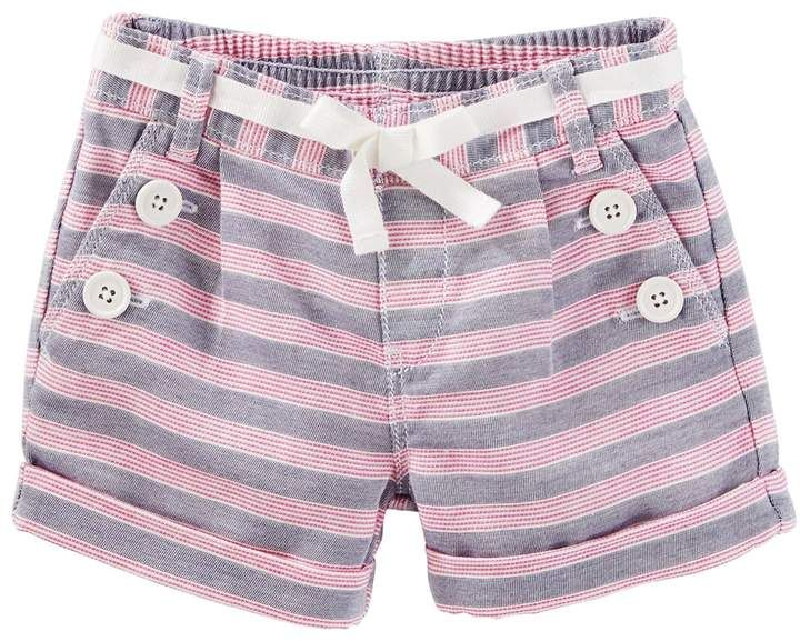 bf552b2d5e4b Oshkosh Bgosh Girls 4-8 OshKosh B gosh Striped Sailor Shorts