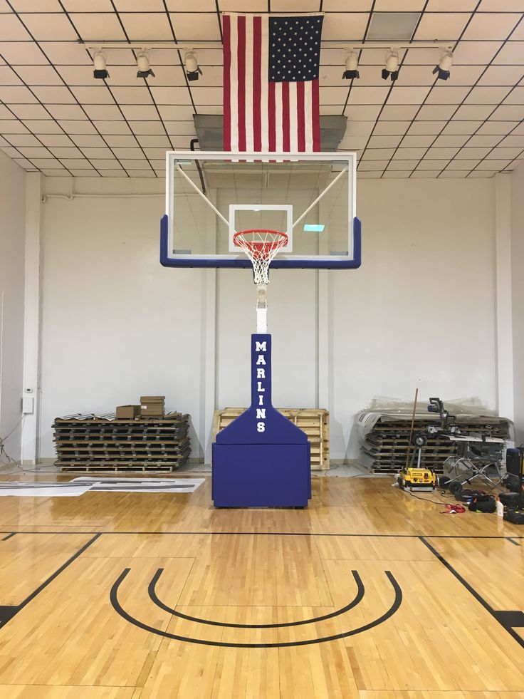 "Picture of ""Hurricane Triumph"" portable basketball goal that was purchased by the City of Port Aransas, TX, after their facility was extensively damaged by the recent Hurricane. Our unit is appropriately named for this facility."