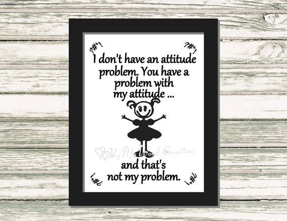 Attitude Problem Quote Art Funny Quote Word by ByMyWordCreations