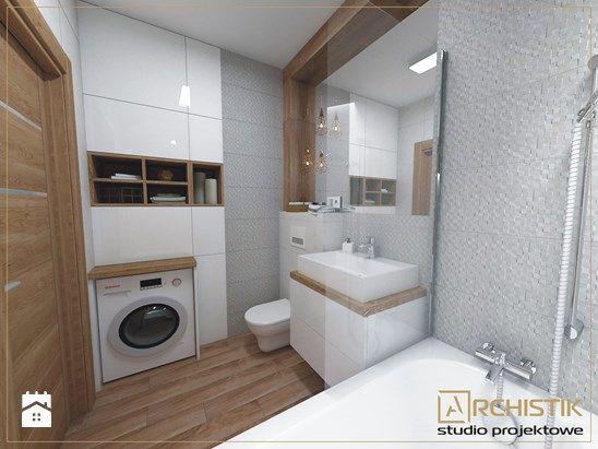 M3 - Wrocław - Wysoka - Mała łazienka w bloku bez okna, styl skandynawski - zdjęcie od ARCHISTIK Studio Projektowe