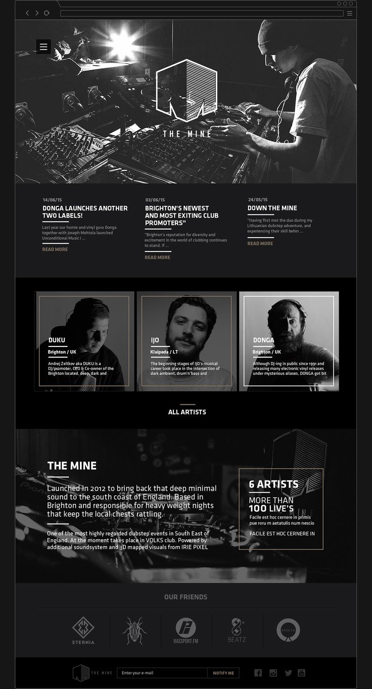 THE MINE on Behance