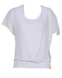Belle Overlay Top - White