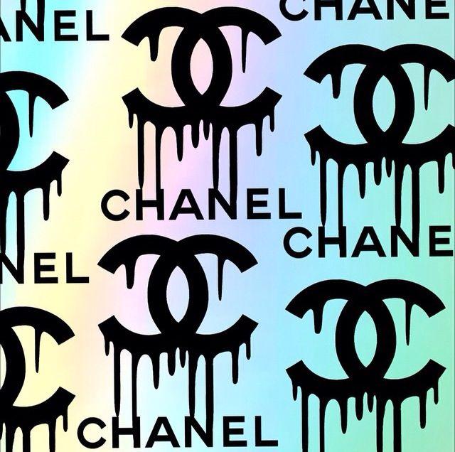 dripping chanel wallpaper cocos logo pinterest