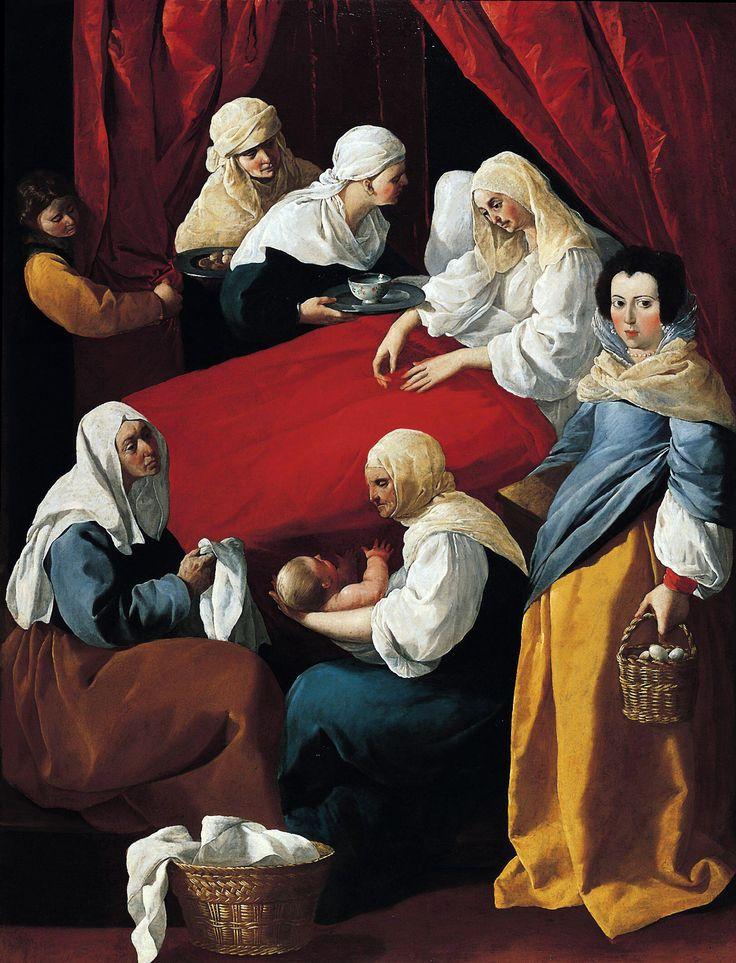 Francisco de Zurbarán (Spanish 1598–1664) [Baroque] The Birth of the Virgin, c. 1625–1630, Norton Simon Museum, Pasadena, CA.