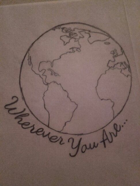 Want this as a tattoo #whereveryouare #world #globe #meaningful #tattoo