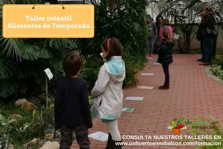 Taller para niños Jugando a conocer los alimentos saludables y alimentos de temporada del huerto http://www.unhuertoenmibalcon.com/formacion/2015/07/talleres-infantiles-de-huerto-urbano/