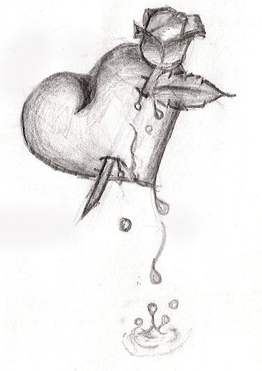 Bleeding Heart Drawings | Bleeding Heart by ~Suigintoh-Alice-Rose on deviantART