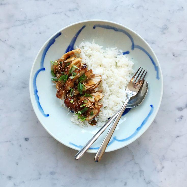 Makkelijk recept voor Japanse Kip Teriyaki met rijst
