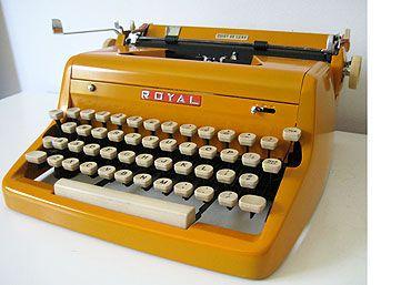 1950's Restored Royal Typewriter Yellow