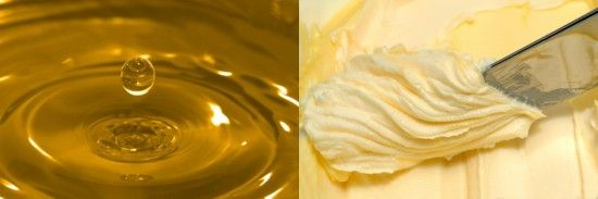 Butter to oil conversion