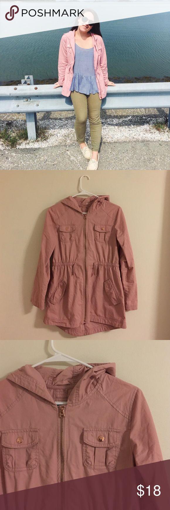 Pink Old Navy Utility Jacket Pink Old Navy Utility Jacket. Very cute with rose gold details on the zippers and pockets. It is a girls XL which fits similar to a women's small (as seen on me in the first picture!) Old Navy Jackets & Coats Utility Jackets