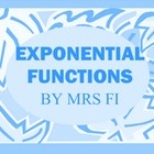 Exponential Functions, includes Graphing Families of Exponential Functions and modeling exponential growth given the formula A(t)= (1+r)^t and use the continuously compounded interest formula A=P*e^rt