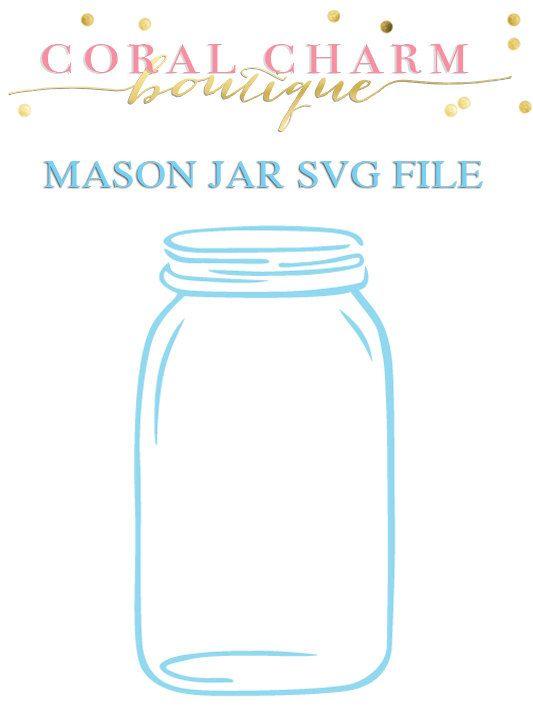Mason Jar SVG File