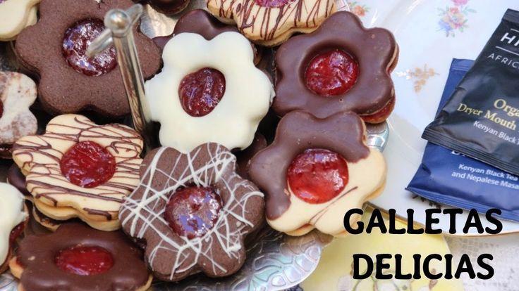 GALLETAS DELICIAS SABOR VAINILLA ,CHOCOLATE Y ALMENDRAS
