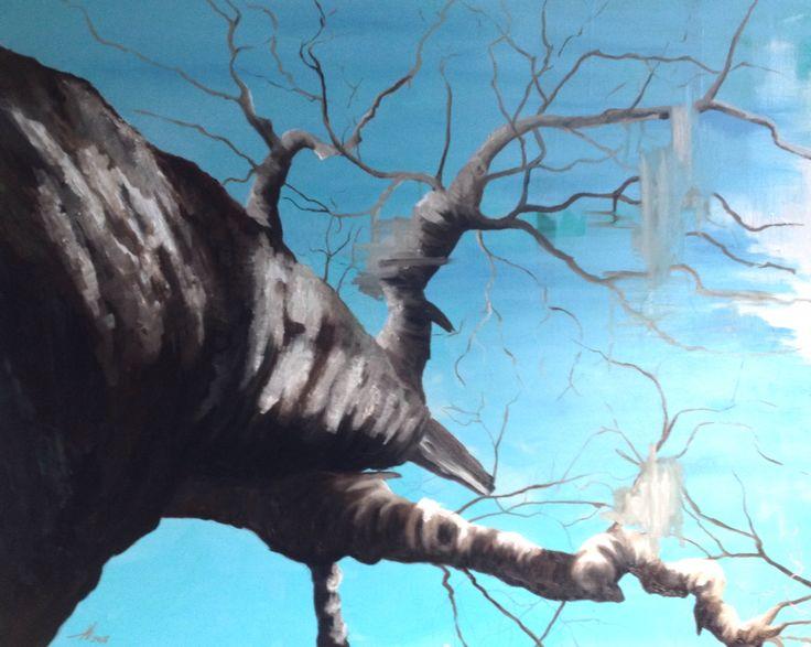 Painting by Aharkes. Acrylic and oil on canvas. 100x80 cm. #aharkes #annemetteharkes #artwork #artoftheday #art #painting #gallery #maleri #maleriertilsalg
