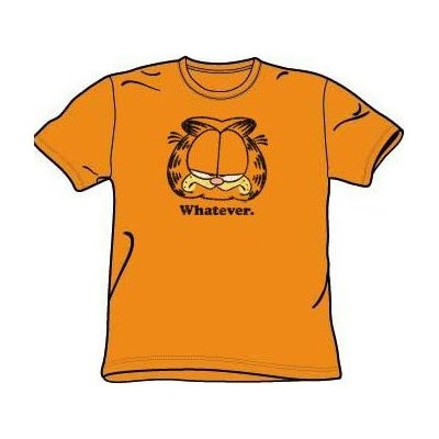 Garfield Whatever Funny Orange Short Sleeve Shirt Tee