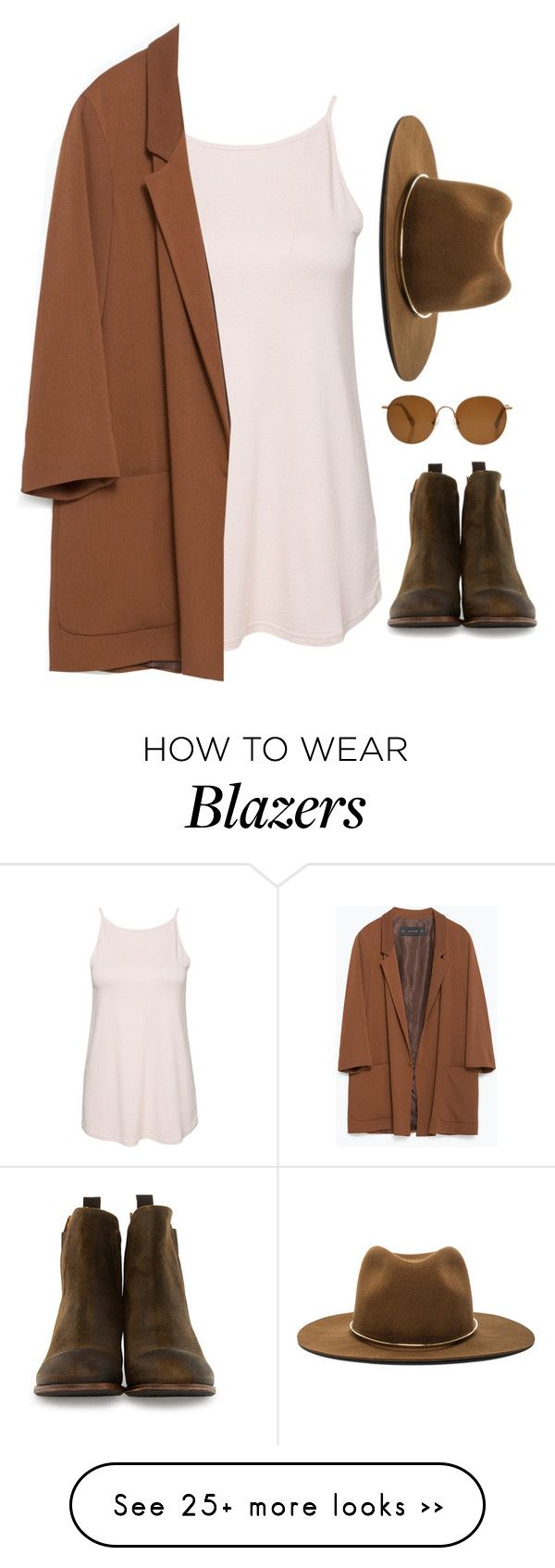 """""""Untitled #6356"""" by heynathalie on Polyvore featuring New Look, Zara, Janessa Leone, Gidigio and The Row"""
