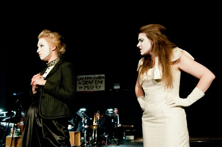 Lucy Brown and Polly Peachum - 'The Threepenny Opera' by Bertolt Brecht, produced by Felt Tip Theatre Company