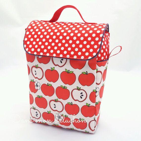 Lunch bag enfant, sac à goûter, sac à pique nique, sac a déjeuner, sac isotherme, lunch bag isotherme,