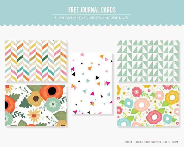 Quality DigiScrap Freebies: Journal Cards freebie from Kimberly Church Design #projectlife