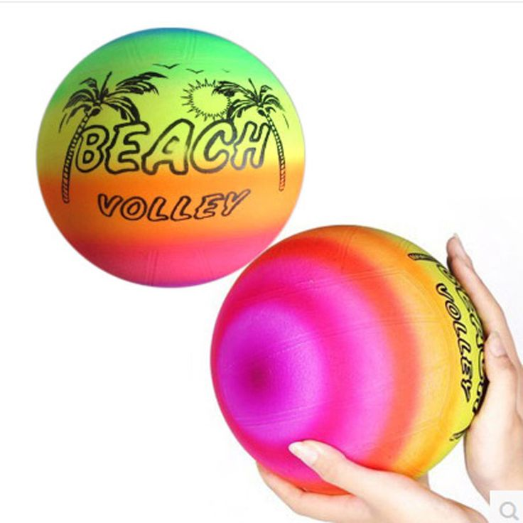 5pcs Inflatable Balls 22CM PVC Beach Ball birthday party decoration Rainbow Volleyball Outdoor Sports Toy  Beach Ball baby gifts