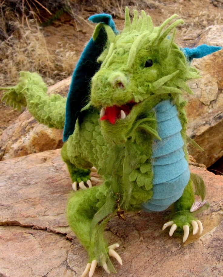 needle felted dragon pattern - Google Search