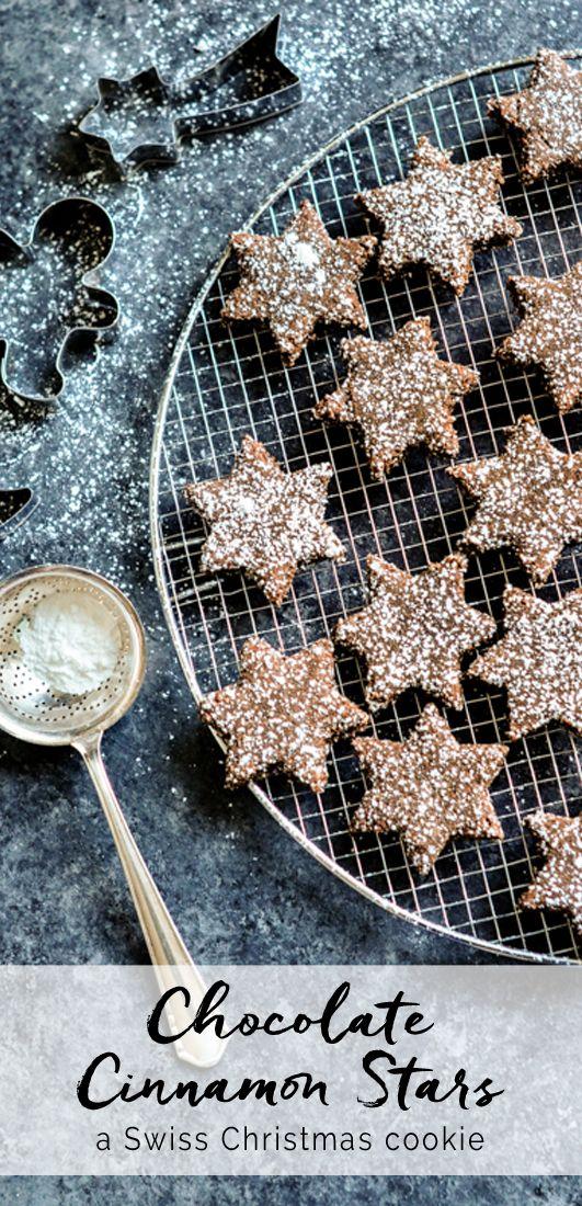 Chocolate Cinnamon Star Cookies. Gluten-free, lactose-free. Betty Bossi | eatlittlebird.com
