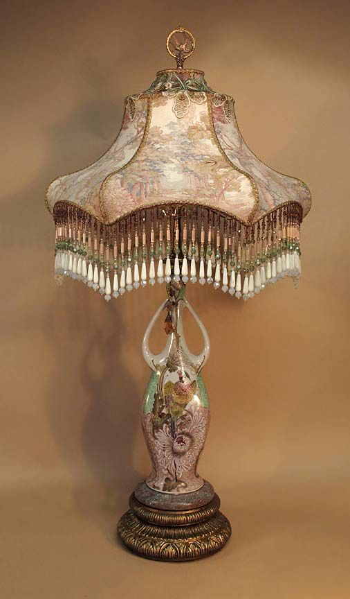 68 best victorian lamp love images on pinterest lampshades antique table lamp with victorian lamp shade aloadofball Choice Image