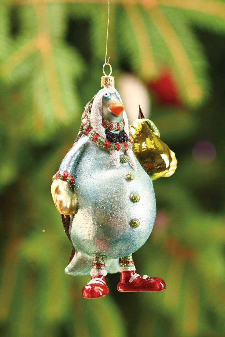 Krinklesonline By Patience Brewster  2012 Krinkles Partridge Glass Christmas  Ornament (http: