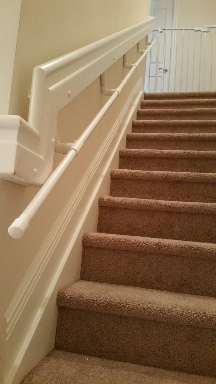Best Diy Toddler Handrail For Stairway Pvc Pipes Secured To 400 x 300
