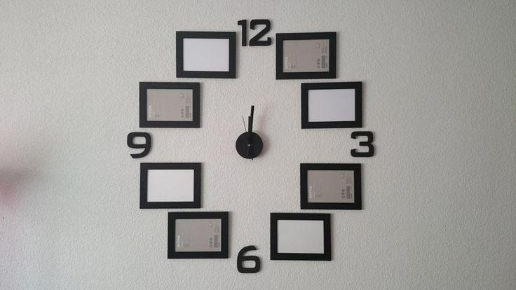Reloj mural con fotografías