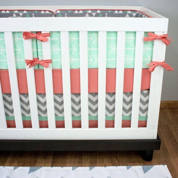 Flèches de menthe literie bébé ensemble menthe par modifiedtot