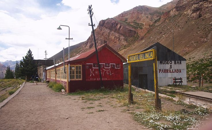 Mendoza - Estación Puente del Inca - 20060106a - Ferrocarril Trasandino – Wikipédia, a enciclopédia livre