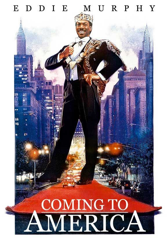 """Coming to America (1988) - """"Fascinating! Semmi, look at this! America is great indeed. Imagine a country so free, one can throw glass on the streets!"""""""